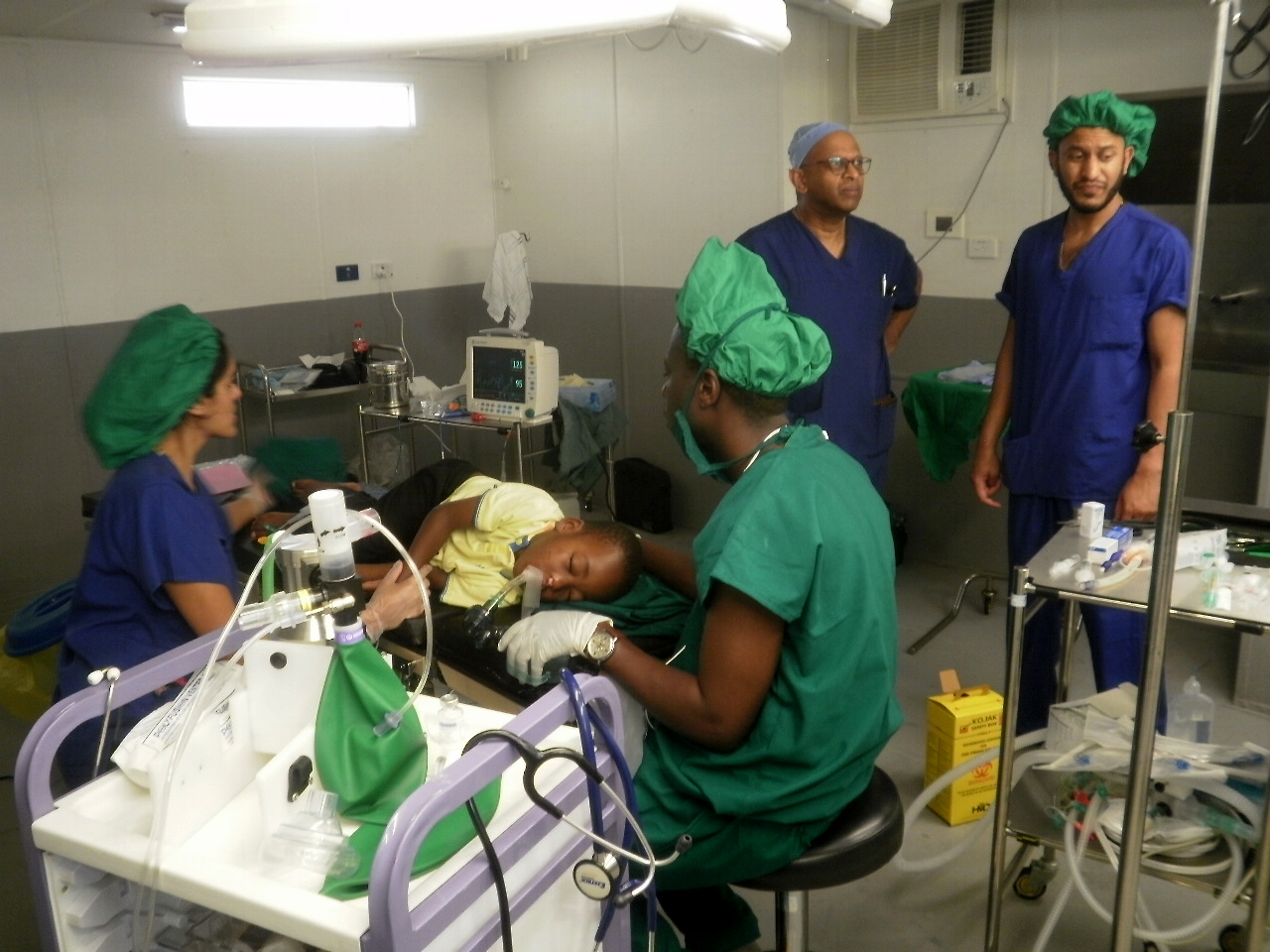Surgical team at work